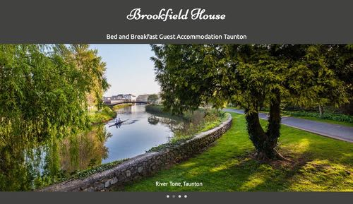 Home page of Brookfield Guest House, Taunton, built by FarOffice Ltd.