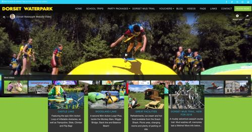 Picture of Dorset Water park home page, app written by FarOffice Ltd.